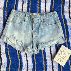 Abercrombie and Fitch American Flag Shorts